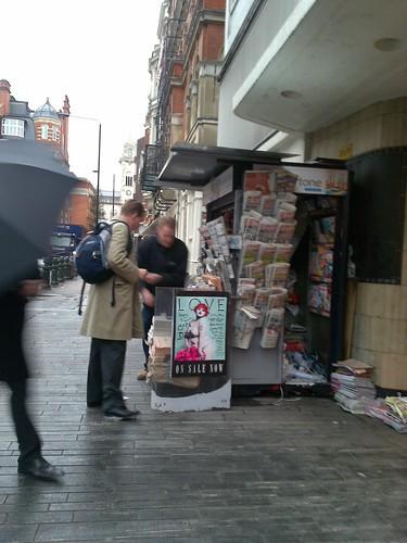 News vendor at Sloane Square