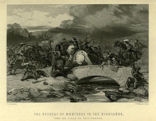 025-Retirada del los Montrose a las Highlands desde el campo de Philiphaugh