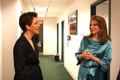 Rachel Maddow with Queen Noor (The Rachel Maddow Show) Tags: msnbc queennoor rachelmaddow therachelmaddowshow
