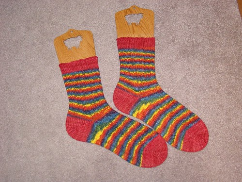 Rainbow Baby Cable Rib Socks