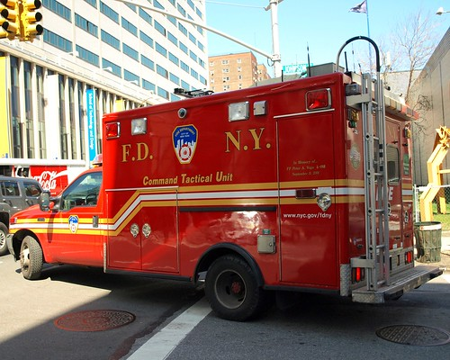 FDNY CTU Command Tactical Unit Vehicle, Downtown Brooklyn, New York City