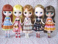 Five pretty girls