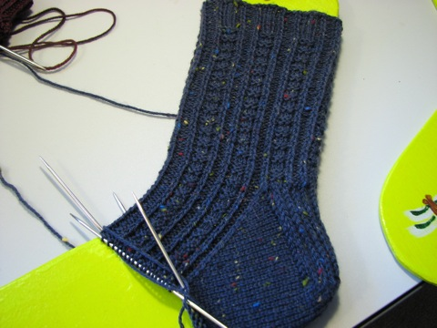 Retro Rib Sock WIP