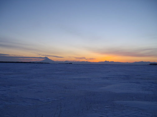Redoubt sunset 4-4-09