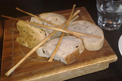 Selection of Italian breads at Gusto, George St, Edinburgh