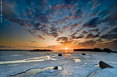 Spring arriving (Rob Orthen) Tags: sea sky ice sunrise suomi finland landscape dawn helsinki nikon rocks europe scenic rob tokina 09 lee scandinavia meri maisema vesi pinta d300 j kevt gnd 1116 kallahti nohdr orthen roborthenphotography tokina1116 tokina1116mm28 seafinland