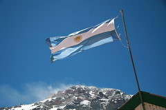 Aconcagua & the Argentinian flag (chris.bryant) Tags: sky sun snow mountains sol southamerica argentina beautiful bandeira rocks wind flag peak bluesky bandera summit 1001nights picturesque wmp picos argentinian sudamerica aconcagua americadosul albiceleste otw plazademulas 5photosaday aplusphoto concordians simplysuperb thebestofday gnneniyisi worldtrekker 5photosday oletusfotos panoramafotogrfico artofimages
