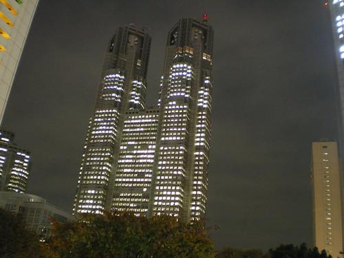 Tocho-Mae, ayuntamiento de Tokio, de camino a Shinjuku