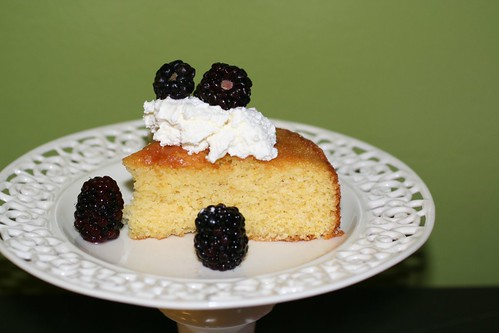 Cornmeal Cake with Rosemary Syrup