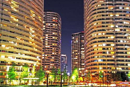 フリー画像| 人工風景| 建造物/建築物| ビルディング| 夜景| 日本風景| 横浜|     フリー素材|