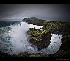 King Neptune's wrath... (Chantal Steyn) Tags: ocean sea water coast surf power wave fisheye bigwave archrock nikond300 nikkor105mm128ged goughisland