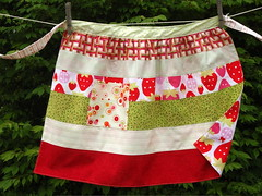 strawberries apron front