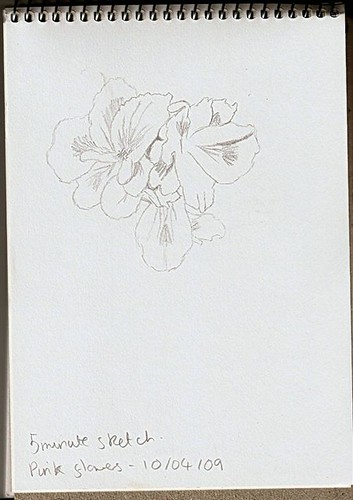 Pink Flower Sketch (Large)