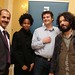 Cuban Ambassador to Ireland, Noel Carrillo, with Cuban artist Susanna Pilar Delahante Matienzo (artist), Seamus Kealy (Director/Curator, The Model), Barbad Golshiri (artist)