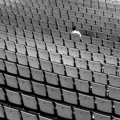 SAGE Hall One (pho-Tony) Tags: music white black detail monochrome square grid one hall check concert alone pattern audience chairs rehearsal row sage gateshead rows single sound lone auditorium shoebox