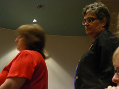 Allison Mendel waits to testify