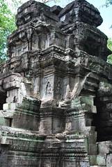 DSC_0574 (ASR Photos) Tags: tree tower abandoned stone temple mural ruins cambodia khmer buddhist roots buddhism jungle siem reap damage khan angkor wat buddah rubble preah overrun