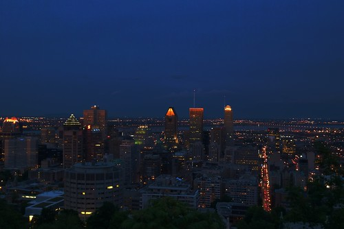 Downtown Montreal during Blue Hour HDR