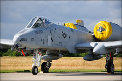 USAF A-10 Thunderbolt II (NickBock) Tags: airplane nikon airshow sp nikkor usaf 2009 fairchild vr warthog a10 18105 d90 luchtmachtdagen a10thunderboltii 52fw 81fs 820654 volkelairforcebase
