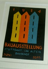 1924 Bauhaus Poster Stamp (eamesville) Tags: poster graphicdesign modernism stamp bauhaus graphicarts industrialarts
