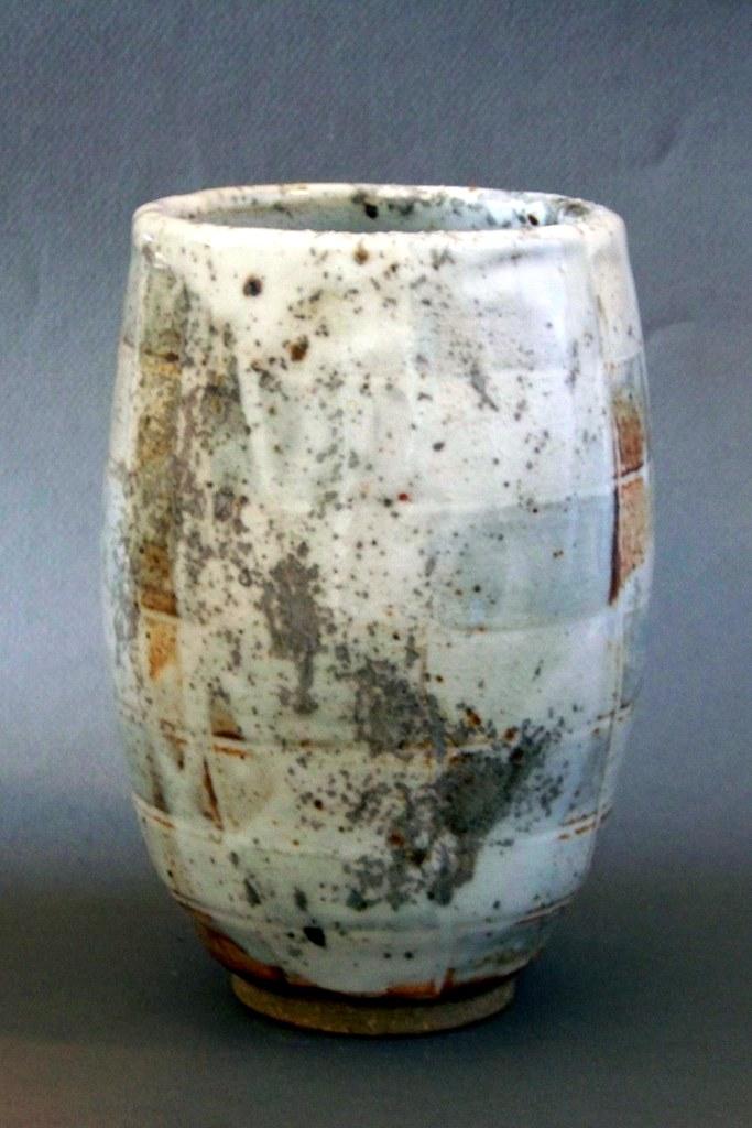 Wood Fired Vase with Iron Slip and Shino Glaze
