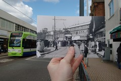 Looking into the past - Station Road, West Croydon (McTumshie) Tags: ltm oldphotographs croydon line1 stationroad 2547 lookingintothepast ltmcapturingcroydon capturingthepastinthepresent croydonlocalstudieslibraryandarchivesservice