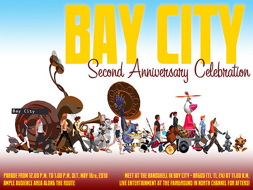 Bay City 2nd Anniversary Parade Poster