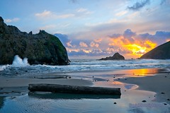 Eternal Pacific - Pfeiffer State Beach California (Darvin Atkeson) Tags: ocean california bridge sunset sea usa beach america reflections us big waves natural state pacific tunnel beaches sur  pfeiffer   darvin atkeson  darv   liquidmoonlightcom