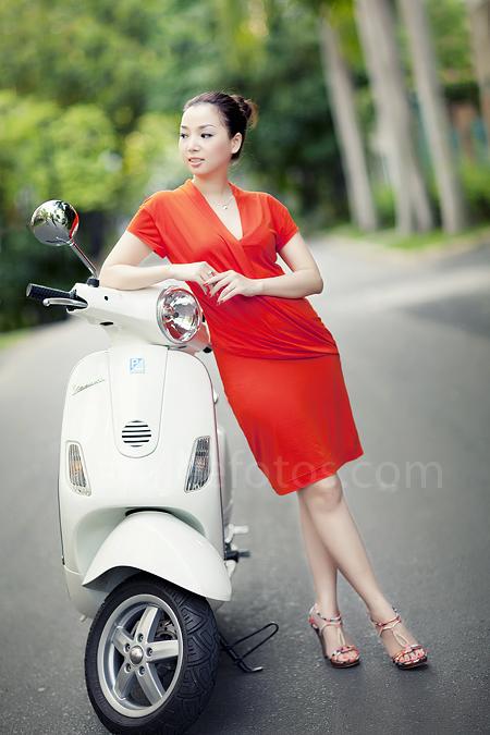 chụp hình chân dung ngoại cảnh - model Laura Lai