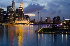 On the other side (Q.Charlene) Tags: singapore nightview marinabay
