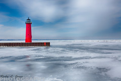 Lighthouse in the Wintertime (Ricky L. Jones Photography) Tags: winter light lighthouse house cold wisconsin canon landscape lakemichigan wintertime landscapephotography