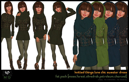 [MG fashion] knitted things collection.lune chic sweater dress (fatpack03)