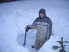 Mike digging (JordanMGregory) Tags: snow larch mikeprice