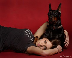 Maria & Jetta (Devilstar) Tags: dog cute love girl studio maria young champion junior doberman pinscher jovial estonian dobermann jovita koer ulanova  yacheeros