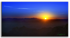 Sleeping Sun (L Geoffroy) Tags: sunset arizona sun mountains southwest photoshop landscape landscapes twilight bravo scenery desert tucson sony scenic canyon baboquivari soe kittpeak oldwest cs4 theunforgettablepictures goldstaraward dslra350 dslr350 lgeof
