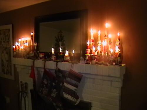 Christmas Mantel with 2011