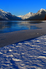 IMG_7726 copy (grafficartistg4) Tags: camera blue winter light sun sunlight mountain lake snow mountains cold reflection slr ice nature water beauty digital photography eos frozen montana freezing h2o freeze glaciernationalpark icy gnp canon30d lakemcdonald nwmontana photophotograph