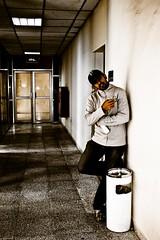 Day155: No More going through this way! (Socceraholic) Tags: school friends portrait college coffee trash digital pose joseph rebel garbage university friendship brothers engineering finish kuwait brotherhood engineers xti 400d khaldiya yousi 6kh