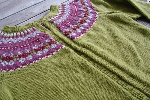 Rose-Kim Knits: Granny Smith Fair Isle Cardigan