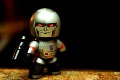 All Hail Megatron (Photo David) Tags: toy toys 50mm robot nikon gun hand flash 14 sb600 transformers nikkor mighty hasbro megatrom muggs d300 plastic52