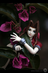 aeris with flowers (eringarret) Tags: finalfantasy vii ff7 finalfantasyvii aeris aerith squaresoft aerithgainsborough