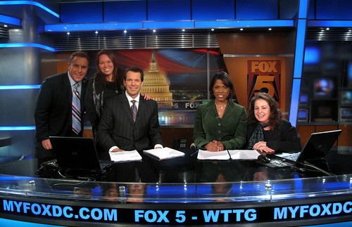Us with Fox 5 news team (some of them anyway!)