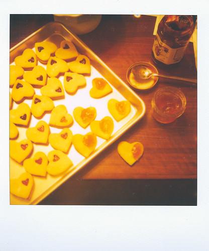 linzer hearts + jam