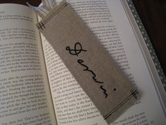 Darwin Day Bookmark (crafty bean) Tags: japanese pattern embroidery evolution science charlesdarwin reason swap bookmark logic zakka darwinday freepattern
