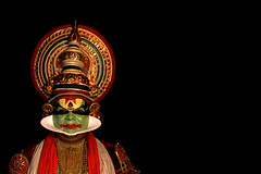 Pacca (Andy Bracey -) Tags: travel portrait india costume theatre kerala performer kathakali bracey aplusphoto andybracey