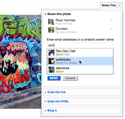 find people faster feature on flickr