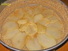 Tarta de bacalao-capa patatas