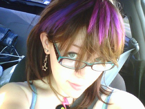 Creative Hair Color Effects. NOTE: The hair dye used is