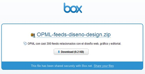 OPML +300 feeds de diseño