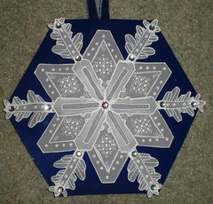 Dark Blue Parchment Snowflake Card (Gregelope) Tags: beautiful cards parchment craftsmanship papercraft